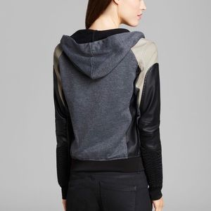 Blank NYC leather zip up